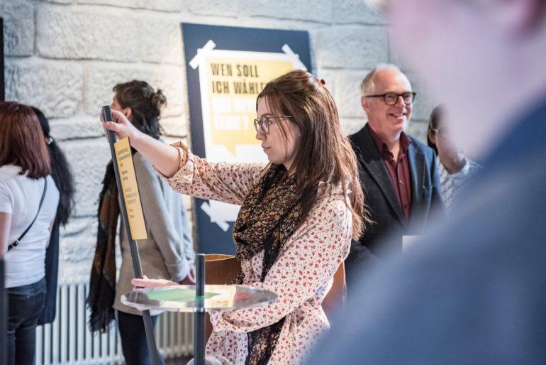 """Impressionen der Ausstellung """"Wozu Wählen?""""; 15.05.19 - 26.10.19; Polit-Forum Bern; Foto: Susanne Goldschmid"""