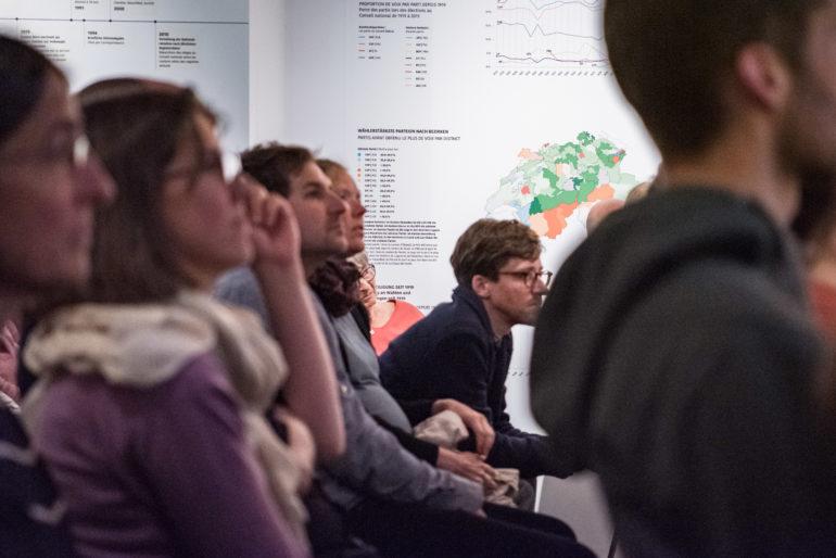Vernissage zur Ausstellung «Wozu wählen?», 15.05.19, Polit-Forum Bern; Foto: Susanne Goldschmid