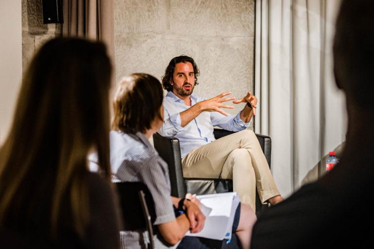 Podium Corona - Stellenwert der Kultur. Raphaël Brunschwig, Chief Operating Officer Locarno Film Festival; Polit-Forum Bern, 26.8.2020; Bild: Susanne Goldschmid