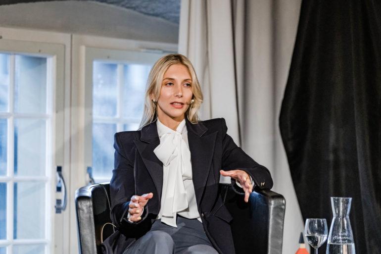 """Podium """"Wer beinflusst die Digitale Demorkatie?"""";  Christina Utz, cr-Kommunikation; 08.06.2021; Bild: Susanne Goldschmid"""