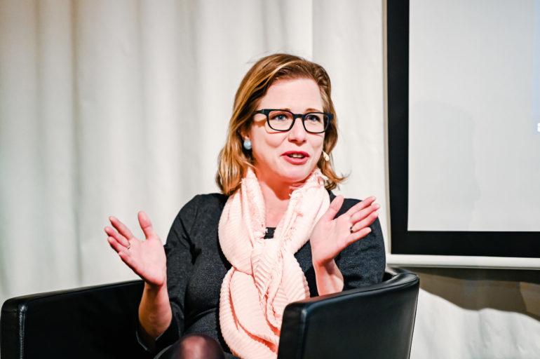Podium Religion und staatliche Friedensbildung; Christa Markwalder, Nationalrätin, FDP, Mitglied der Aussenpolitischen Kommission; 19.11.2020; Bild: Susanne Goldschmid