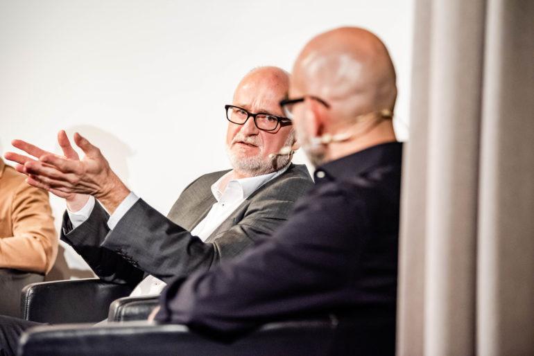 """Podiumsdisskusion """"Boom im Gefängnisbau - Notwendigkeit oder Vorratsplanung?"""";  Marcel Ruf (Direktor JVA Lenzburg); Polit-Forum Bern; Bern; 21.11.2019; Bild: Susanne Goldschmid"""