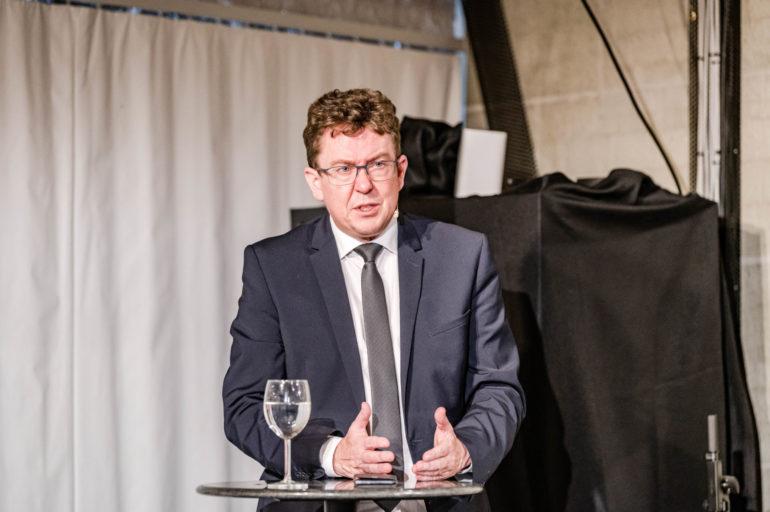 """Debatte Abstimmungen """"Ist das CO2-Gesetz überfällig oder missraten?""""; Albert Rösti, Nationalrat SVP Bern; Polit-Forum Bern; 05.05.2021; Bild: Susanne Goldschmid"""