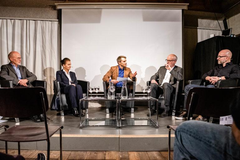 """Podiumsdisskusion """"Boom im Gefängnisbau - Notwendigkeit oder Vorratsplanung?""""; Polit-Forum Bern; Bern; 21.11.2019; Bild: Susanne Goldschmid"""