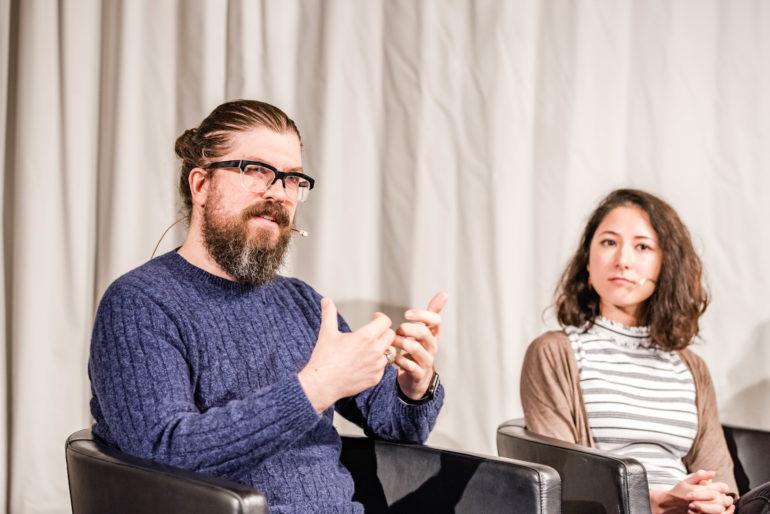 """Podiumsdiskussion """"Was haben Games mit Politik zu tun?""""; Polit-Forum Bern; 09.10.2019; Bild: Susanne Goldschmid"""