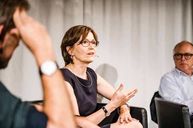 Polit-Forum Bern, Podium Notstand nach Gebrauch zurück, Regula Rytz, Nationalrätin und Präsidentin Grüne Schweiz; 23.06.2020; Bild: Susanne Goldschmid